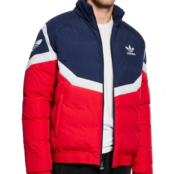 Adidas color block down Puffer Jacket NWT